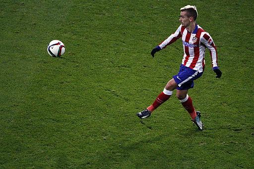 Den franske angriber Antoine Griezmann i aktion for Atlético Madrid