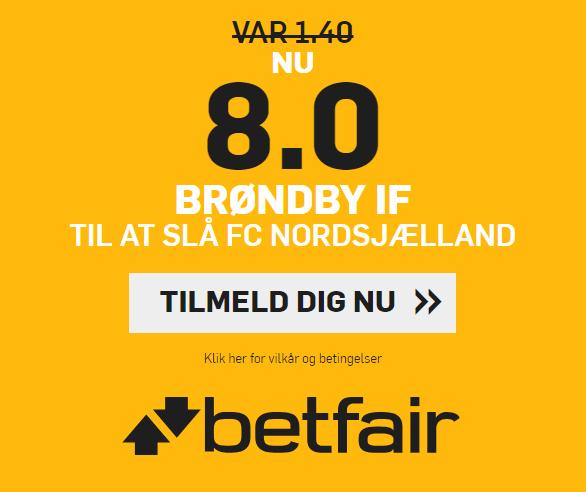 Få odds 8 på Brøndby slår FC Nordsjælland