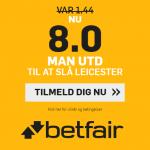 Odds otte på Man United-sejr over Leicester hos betfair