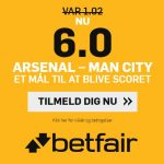 Kun for nye spillere: Få odds 6 på mål i Arsenal – Man City nu