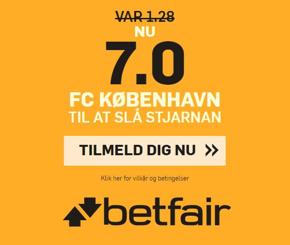 Få odds 7 på FCK slår Stjarnan