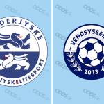 Officielle logoer for SønderjyskE og Vendsyssel FF