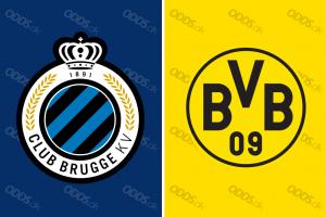 Officielle klublogoer for Club Brügge og Borussia Dortmund