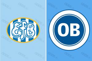 Officielle logoer for Esbjerg fB og OB