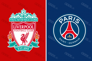 Officielle klublogoer for Liverpool og PSG