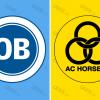 Officielle logoer for OB og AC Horsens
