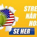 Kampagnebillede fra Danske Spil, der viser, at man kan livestreame US Open gratis hos bookmakeren Danske Spil.