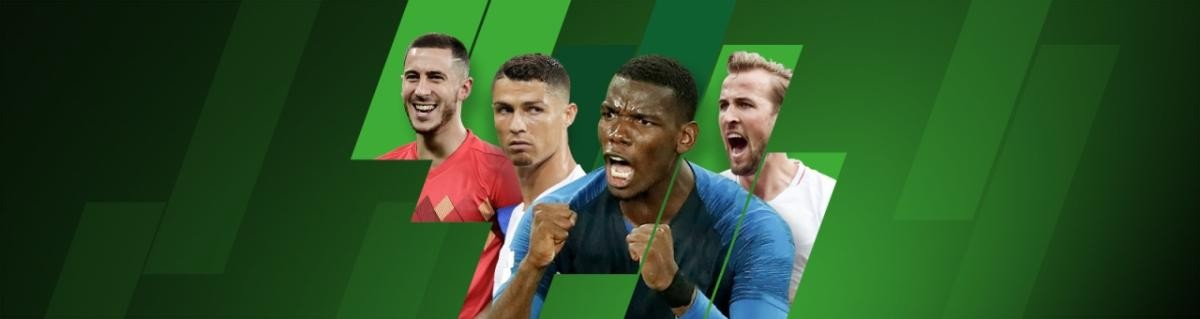 Unibet Nations League konkurrence med billeder af Eden Hazard, Cristiano Ronaldo, Paul Pogba og Harry Kane