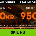Få odds 11 på Barcelona og odds 19 på Real Madrid hos 888sport