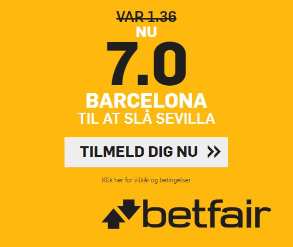 Du kan få odds 7 på Barça-sejr over Sevilla hos betfair