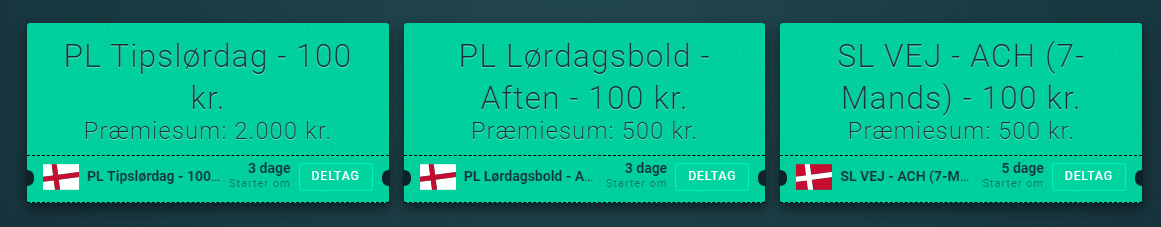 Eksempel på de mange turneringer hos Lynholdet.dk