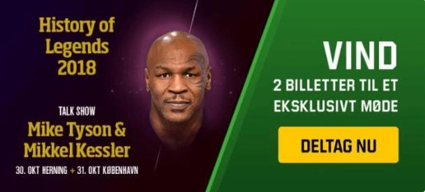 Vind super VIP-billetter til et talkshow med Tyson og Kessler hos Unibet