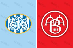 Officielle klublogoer for Esbjerg fB og AaB
