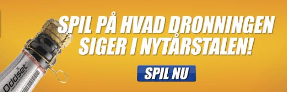 Odds på nytårstalen hos Danske Spil