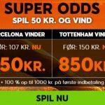 Kom i CL-stemning med 888sport: Få odds 11 på Barça og 17 på Spurs