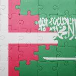 Dansk og saudiarabisk flag som puslespil