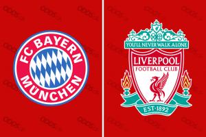 Officielle klubloger for Bayern München og Liverpool
