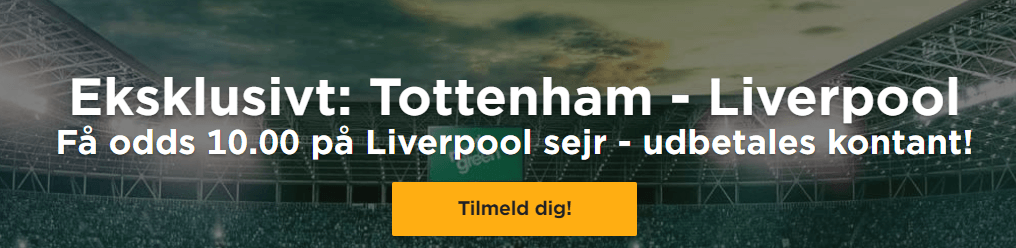 Nye spillere kan hos Mr Green få odds 10 på Liverpool-sejr over Tottenham i Champions League-finalen
