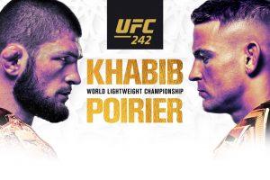 Khabib vs Poirier fra UFC 242, der afholdes i Abu Dhabi
