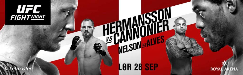 Plakat for UFC København, hvor Mark O. Madsen skal kæmpe.