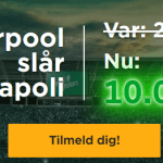 oddsboost på Napoli Liverpool fra Mr Green