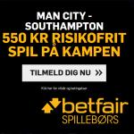 Spil 550 kroner helt risikofrit på Manchester City vs Southampton hos Betfair!