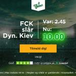 Spil på FC København sejr til odds 10 som ny kunde!