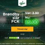 Få odds 15 på Brøndby sejr over FC København som ny spiller hos Mr Green!