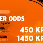 Spil 50 kr. hos 888 og vind hele 1.450 kroner på Real Madrid sejr over Barcelona!