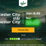 Få odds 20 på Leicester sejr over Manchester City hos Mr Green!