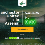 Få odds 8 på Manchester United sejr over Arsenal hos Mr Green!