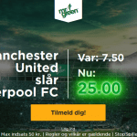 Få vanvittige odds 25 på Manchester United sejr over Liverpool FC hos Mr Green!