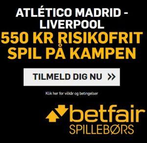 Atlético Madrid-Liverpool, Betfair offer