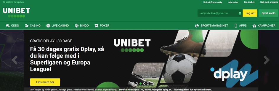 Unibet Dplay kampagne