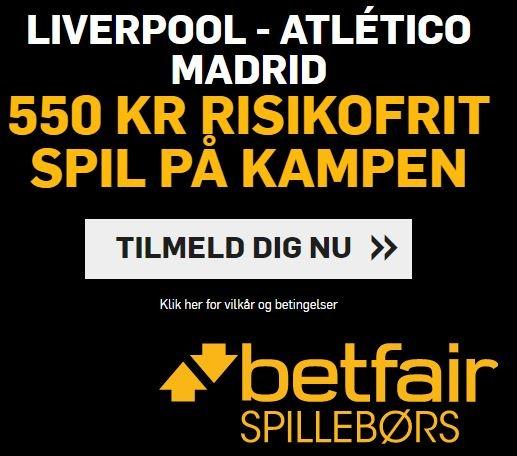Betfair - Liverpool-Atletico