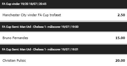 Onside Bettings specialspil på Manchester United-Chelsea