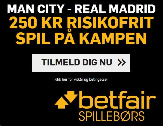 Betfair campaign for Manchester City-Real Madrid