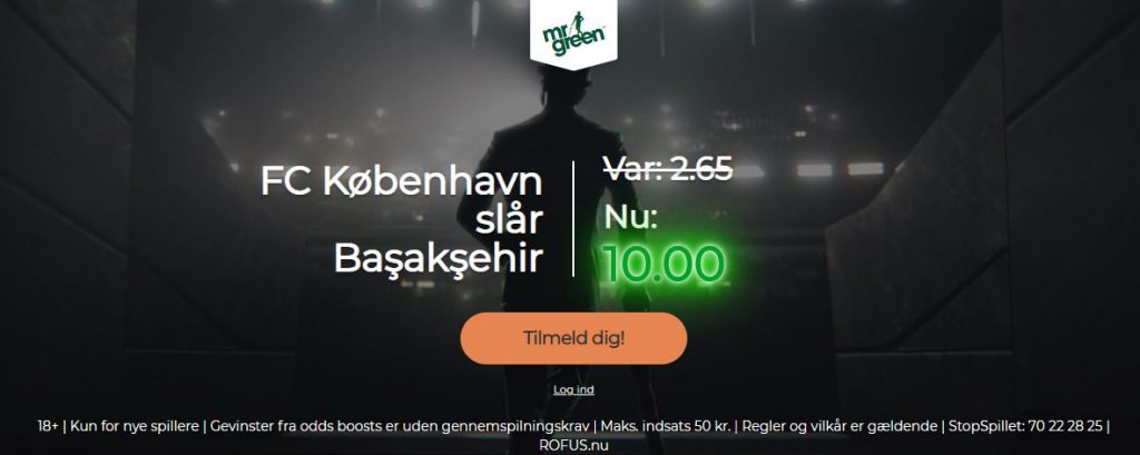 Mr Green-kampagne for FCK-Istanbul Basaksehir