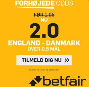 Betfair campaign for England - Denmark