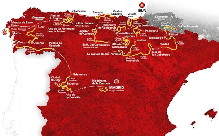 Vuelta 2020 Route