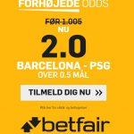 Gaveodds: Få odds 2 på mindst et mål i Barca – PSG
